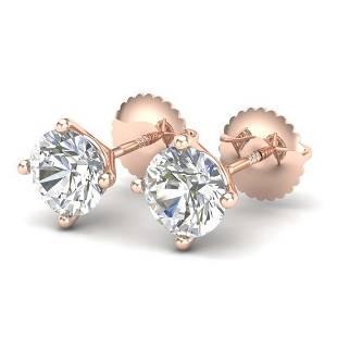 150 ctw VSSI Diamond Solitaire Art Deco Stud Earrings