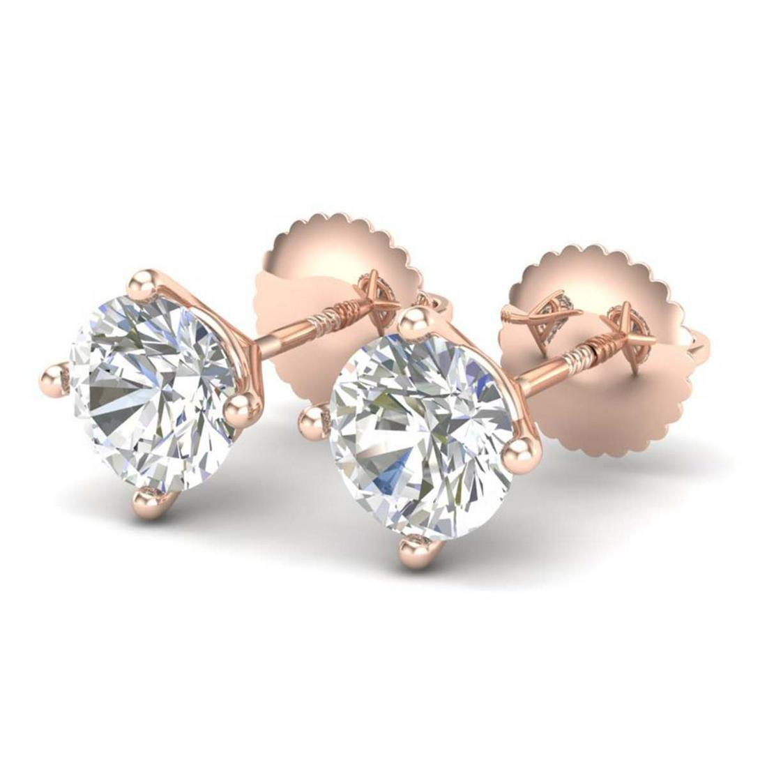 1.50 ctw VS/SI Diamond Solitaire Art Deco Stud Earrings