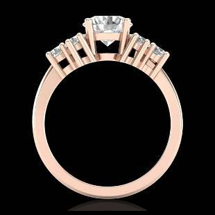 21 ctw VSSI Diamond Solitaire Ring 18K Rose Gold