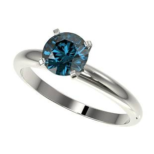126 ctw Intense Blue Diamond Ring 10K White Gold