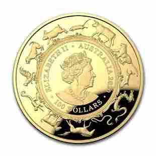 2020 Australia 1 oz Gold 100 Lunar Year of the Rat