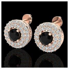 1.40 ctw VS/SI Diamond Earrings 14K Rose Gold