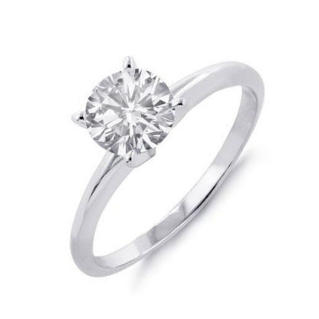 1.35 ctw VS/SI Diamond Solitaire Ring 18K White Gold