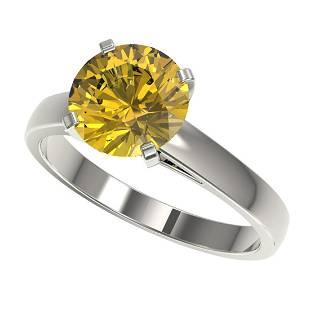 250 ctw Intense Yellow Diamond Solitaire Ring 10K