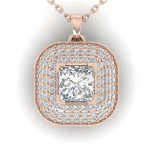 160 ctw Princess VSSI Diamond Art Deco Necklace 14K