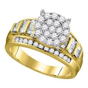 10kt Yellow Gold Round Diamond Cindys Dream Cluster