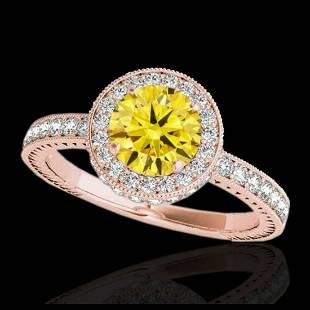 151 ctw SII Fancy Intense Yellow Diamond Ring 10K