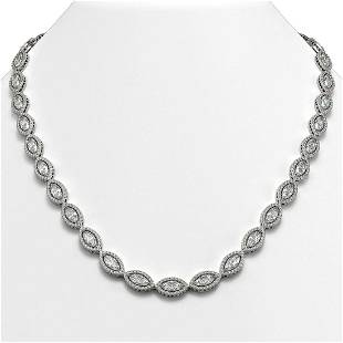 2812 ctw Marquise Diamond Necklace 18K White Gold