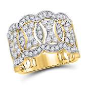 14kt Yellow Gold Round Diamond Right Hand Band Ring