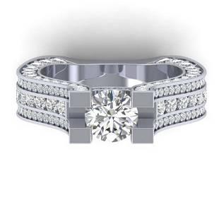 45 ctw VSSI Diamond Art Deco Ring 14K White Gold