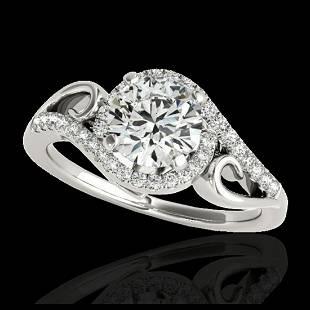 125 ctw HSII Diamond Solitaire Halo Ring 10K White