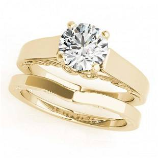 1 ctw VSSI Diamond Solitaire 2pc Wedding Set 14K
