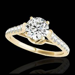 146 ctw HSII Diamond Solitaire Ring 10K Yellow Gold