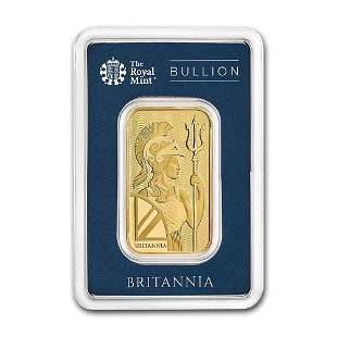 1 oz Gold Bar The Royal Mint Britannia In Assay
