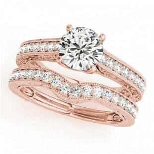 217 ctw VSSI Diamond 2pc Wedding Set 14K Rose Gold