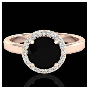 2 ctw Halo VSSI Diamond Ring 14K Rose Gold