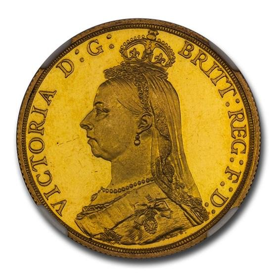 1887 Great Britain Gold Two Pounds PF-64 NGC (UCAM)