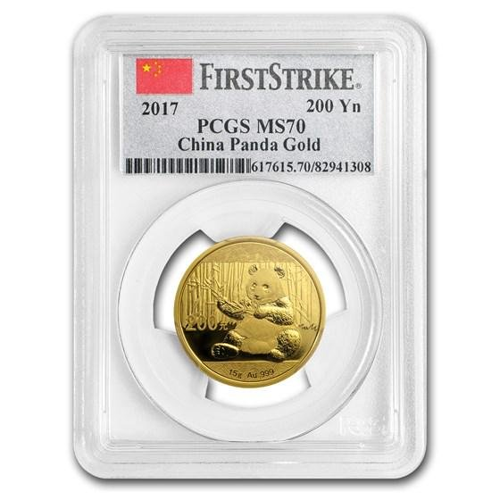 2017 China 15 Gram Gold Panda MS-70 PCGS (FS)