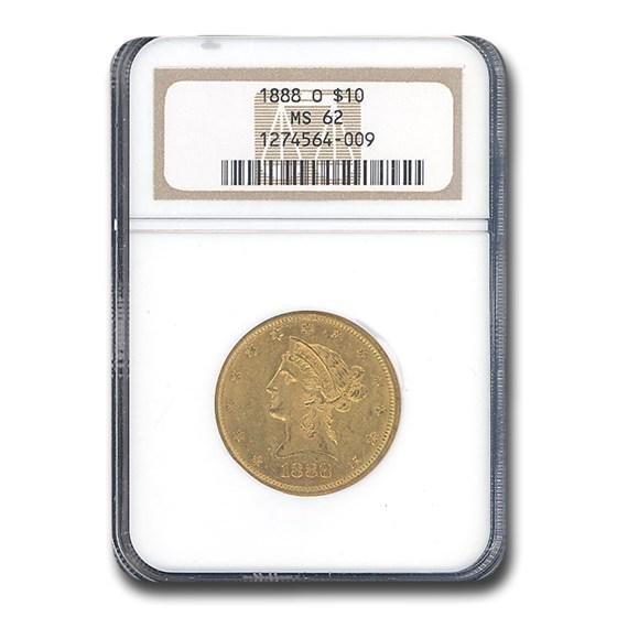 1888-O $10 Liberty Gold Eagle MS-62 NGC