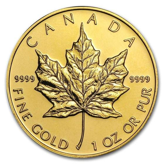 Canada 1 oz Gold Maple Leaf .9999 Fine (Random Year)