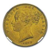 1853 Great Britain Gold Sovereign Victoria Shield MS63