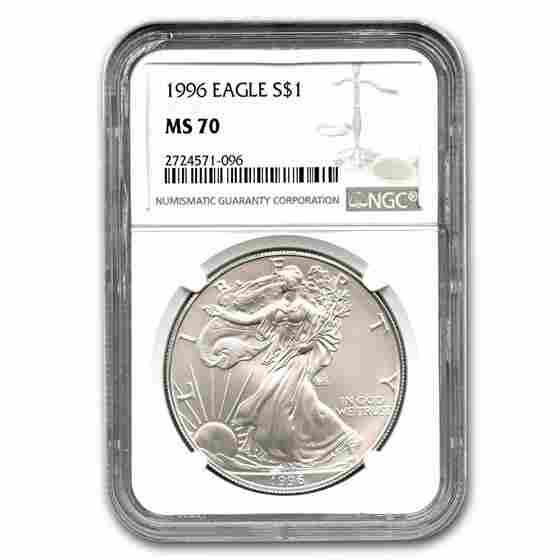 1996 Silver American Eagle MS-70 NGC (Registry Set)
