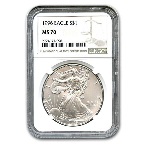 1996 Silver American Eagle MS-70 NGC (Registry Set)