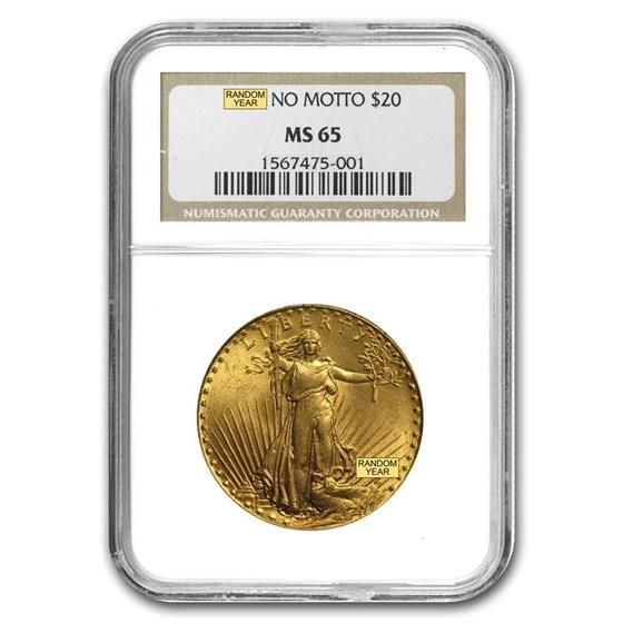$20 Saint-Gaudens Gold Double Eagle MS-65 NGC (Random)