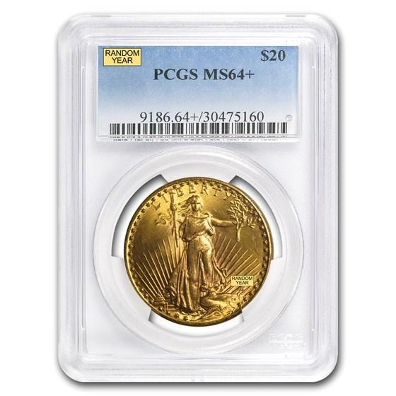 $20 Saint-Gaudens Gold Double Eagle MS-64+ PCGS