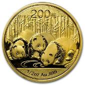 2013 China 1/2 oz Gold Panda BU (Sealed)