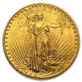 1908 $20 Saint-Gaudens Gold Double Eagle w/Motto AU