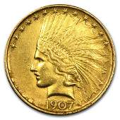 1907 10 Indian Gold Eagle Cleaned