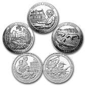2017 5Coin 5 oz Silver ATB Set America the Beautiful