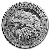 2 oz Silver High Relief Round - Screaming American