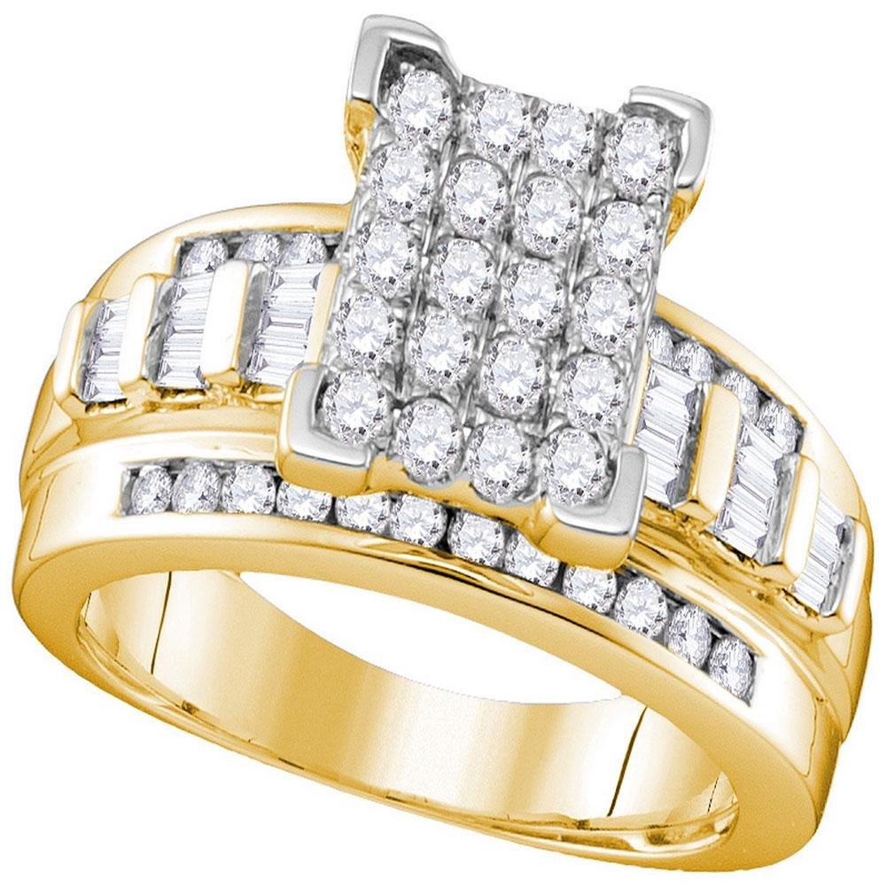 10kt Yellow Gold Diamond Cinderella Cluster Bridal
