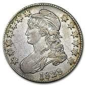 1828 Capped Bust Half Dollar Square Base 2 Sm 8 Lg
