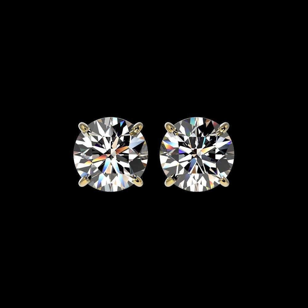 2.57 ctw Certified Quality Diamond Stud Earrings 10K