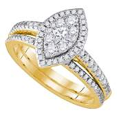 14kt Yellow Gold Princess Diamond Marquiseshape