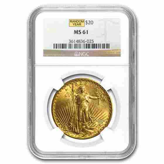 20 SaintGaudens Gold Double Eagle MS61 NGC Random
