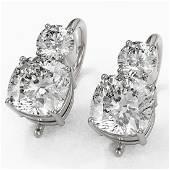 25 ctw Cushion Cut Diamond Designer Earrings 18K White
