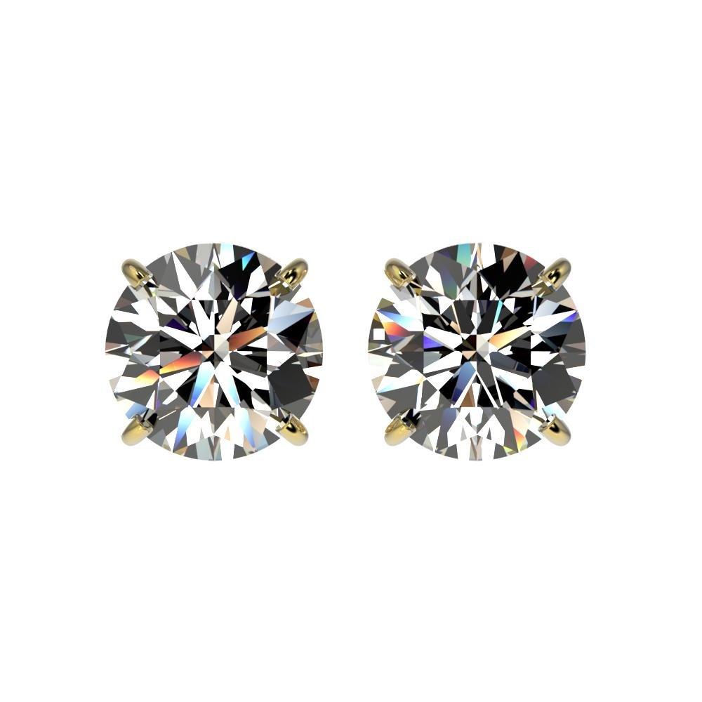 2.07 ctw Certified Quality Diamond Stud Earrings 10K