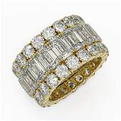 1387 ctw Emerald Cut Diamond Eternity Ring 18K Yellow