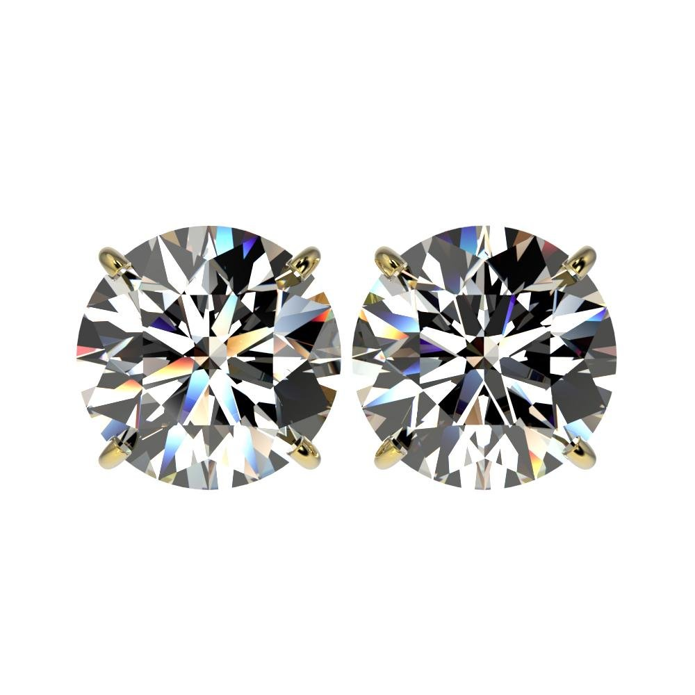 5 ctw Certified Diamond Stud Earrings 10K Yellow Gold