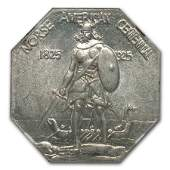 1925 Norse Medal Half Dollar MS64 NGC Thin Planchet