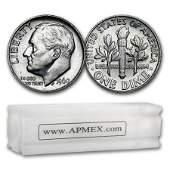 1960 Roosevelt Dime 50Coin Roll BU