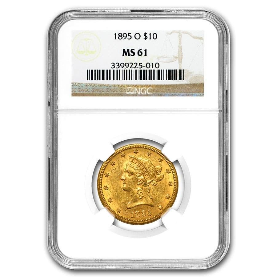 1895-O $10 Liberty Gold Eagle MS-61 NGC