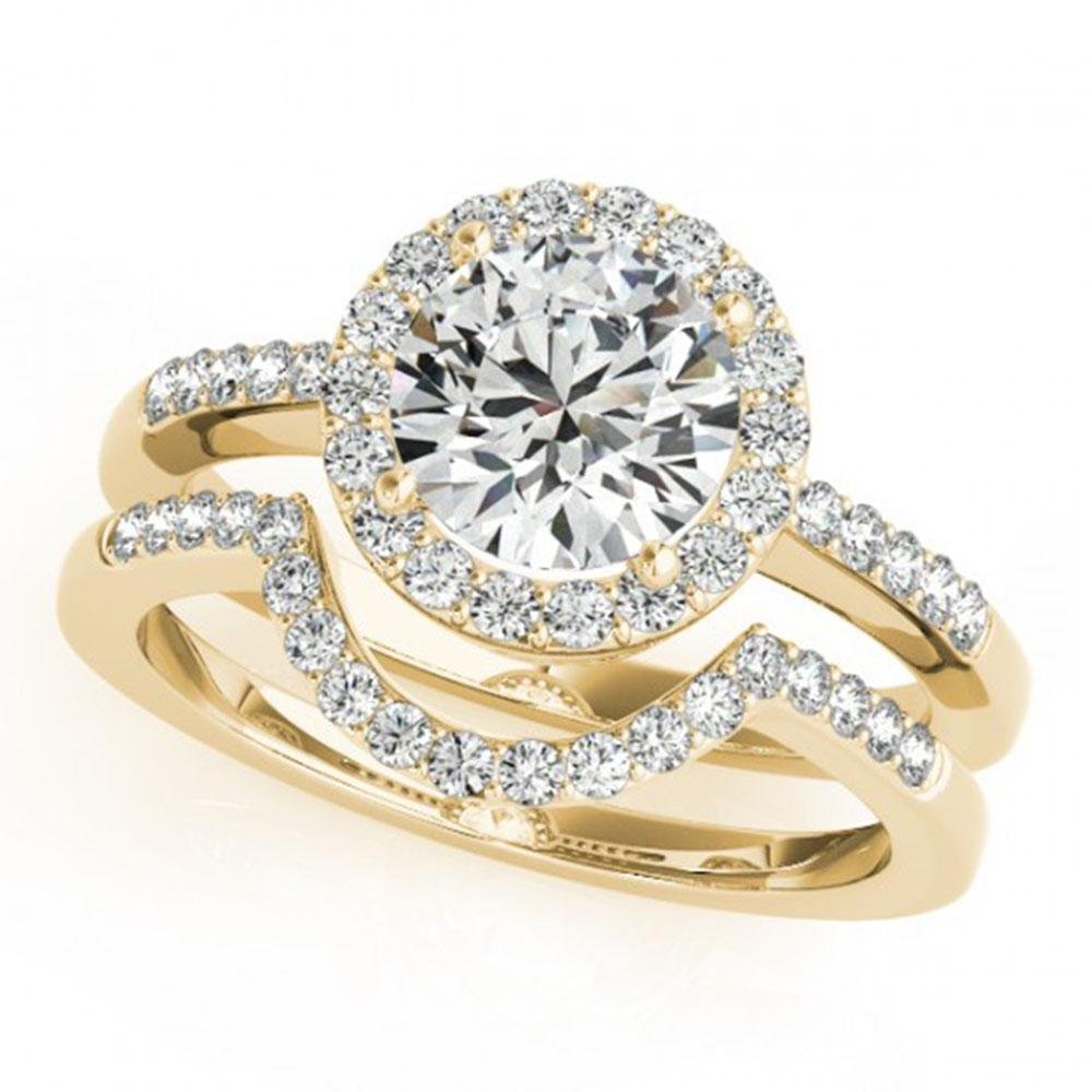 0.67 ctw Certified VS/SI Diamond 2pc Wedding Set Halo