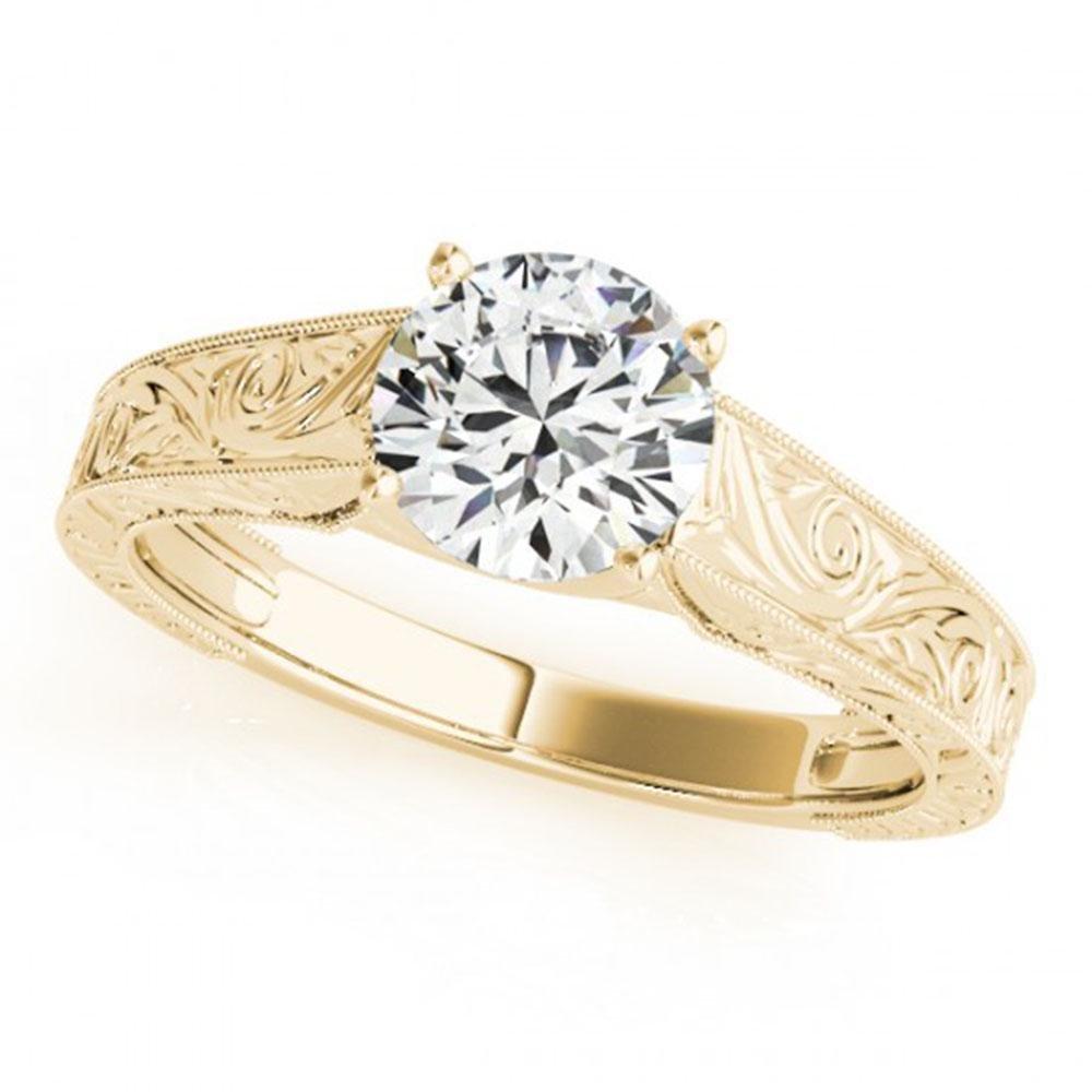 1 ctw Certified VS/SI Diamond Ring 18k Yellow Gold