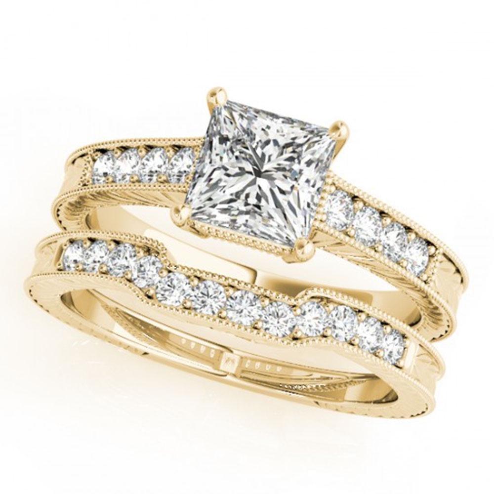 1.43 ctw VS/SI Princess Diamond Wedding Antique 14k