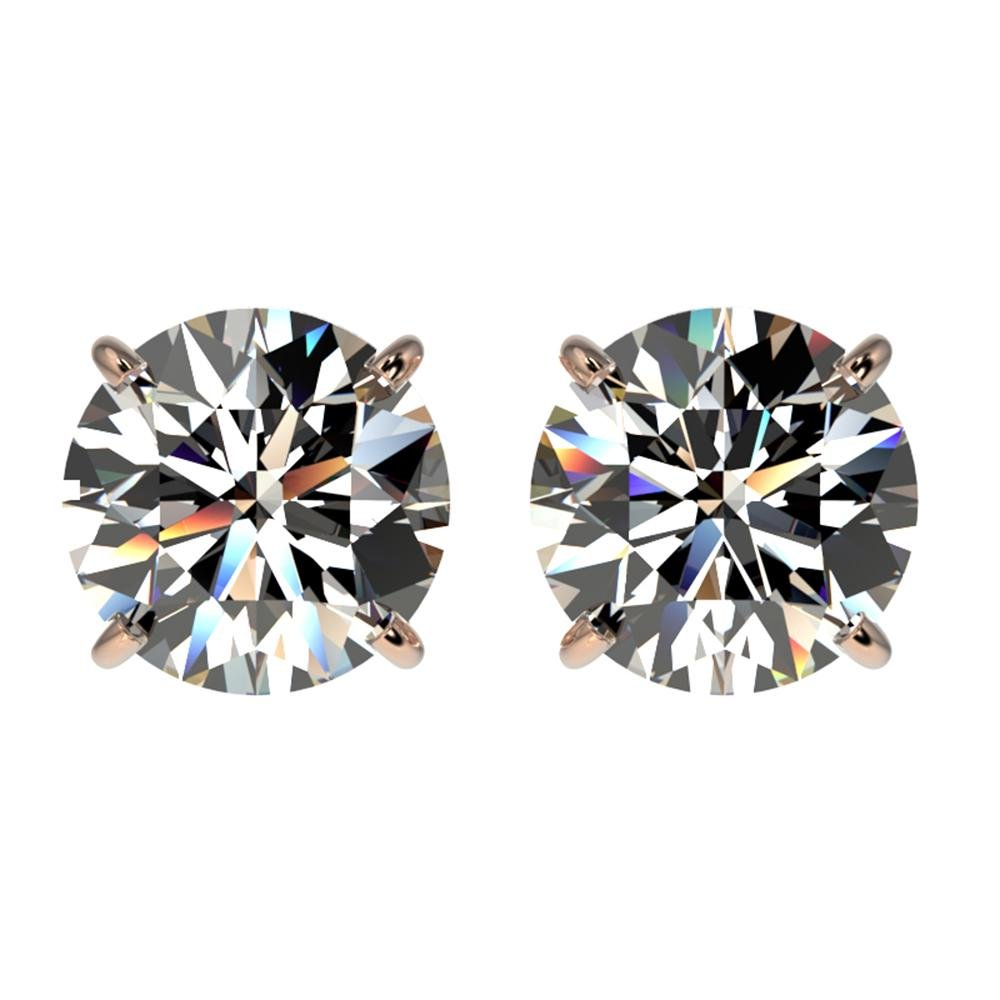 2.03 ctw Certified Quality Diamond Stud Earrings 10k
